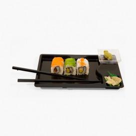 Bandeja Sushi Con Palillos Negra 260x160 mm (144 Uds)