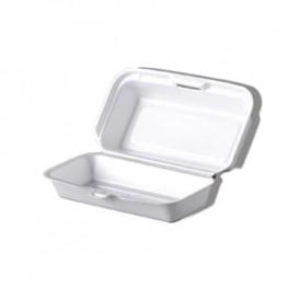 Envase Foam HotDog Blanco 210x110x90mm (500 Uds)