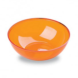 Bol de Plástico Naranja 400ml Ø 14 cm (4 Uds)
