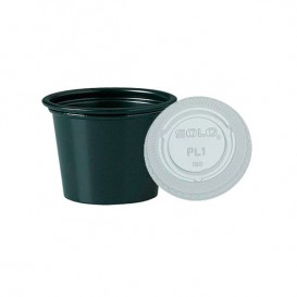 Tarrina Negra con Tapa Transparente 30ml (2500 Uds)