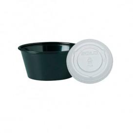 Tarrina Negra con Tapa Transparente 100ml (2500 Uds)