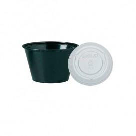 Tarrina Negra con Tapa Transparente 120ml (2500 Uds)