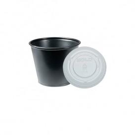 Tarrina Negra con Tapa Transparente 165ml (2500 Uds)