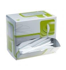 Cuchillos de plástico Blanco en Dispensador (1.500 Uds)