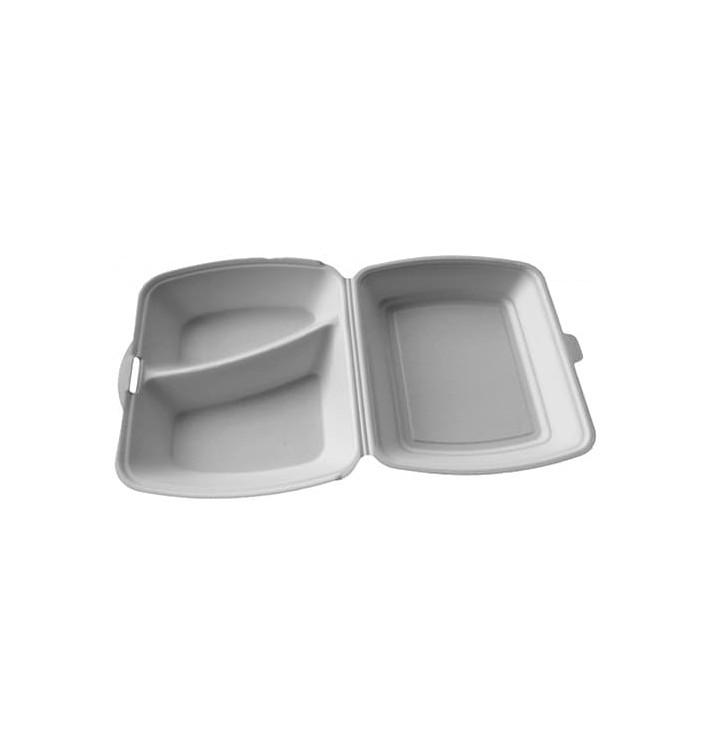 Envase Foam MenuBox 2 C. Blanco 240x210x70mm (200 Uds)