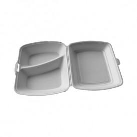 Envase Foam MenuBox 2 C. Blanco 240x210x70mm (50 Uds)