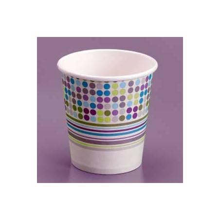 Vaso Carton 200 ml. Diseño Rayas y Topos (Caja 500 unidades)