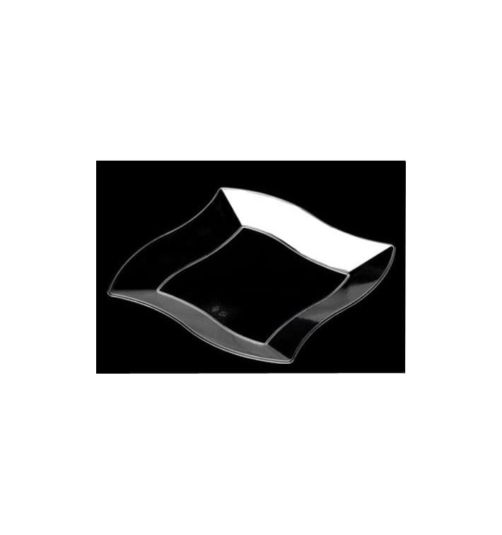 Plato de Plastico Rigido Transparente 140mm (108 Uds)
