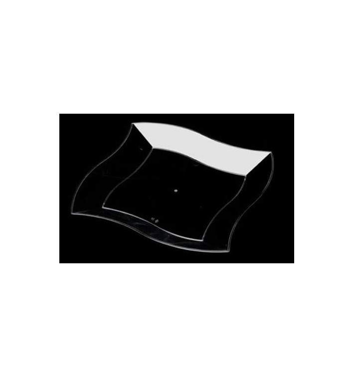Plato de Plastico Rigido Transparente 230mm (108 Uds)
