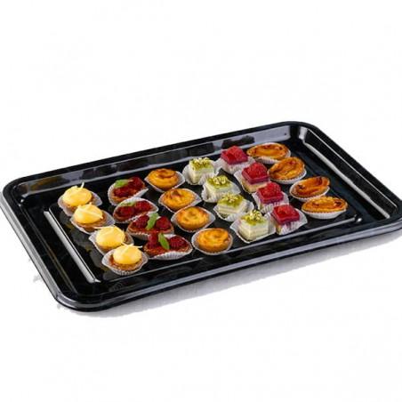 Bandeja Plastico Catering Rectang. Mármol 35X24 cm (50 Uds)