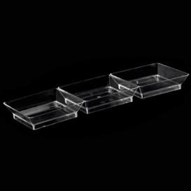 Salsera 3 Compartimentos transp. 19x6,2x2,5cm (250 Uds)