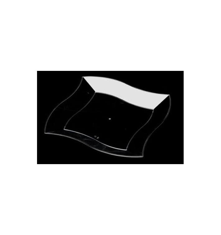 Plato de Plastico Rigido Transparente 230mm  (6 Uds)