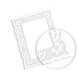 Blonda de Papel calada blanca LITOS 20x30cm (250 Uds)