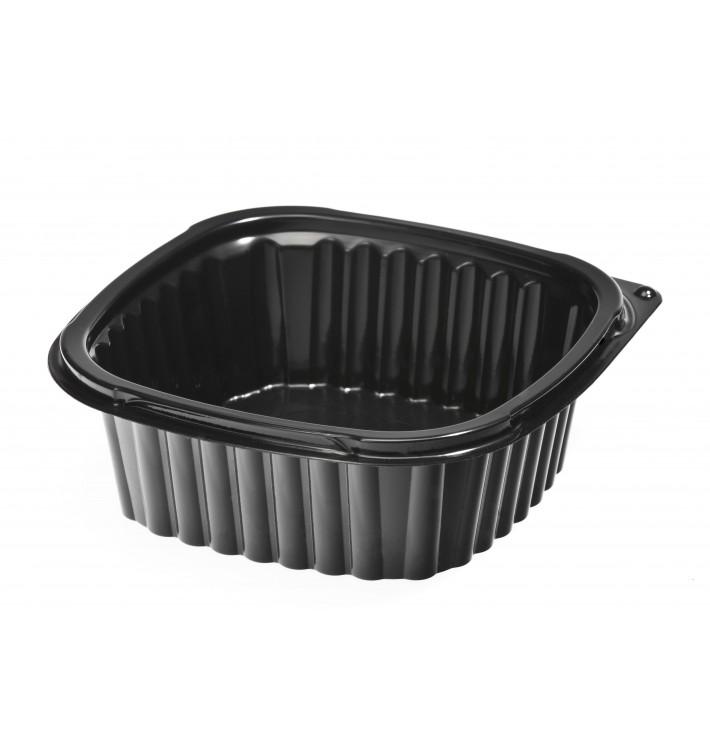 Envase Plastico Cuadrado PP 500ml Negro (100 Uds)