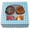 Caja con Soporte para 4 Cupcakes Azul B-20 (Cajas)