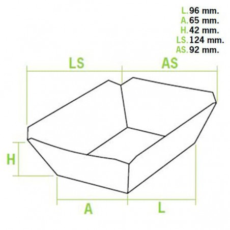 Barqueta 250ml Kraft 9,6x6,5x4,2cm (1000 Uds)