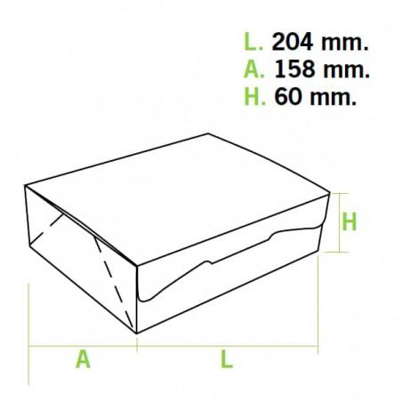 Caja Pasteleria Carton 20,4x15,8x6cm 1kg. Rosa(200 Uds)
