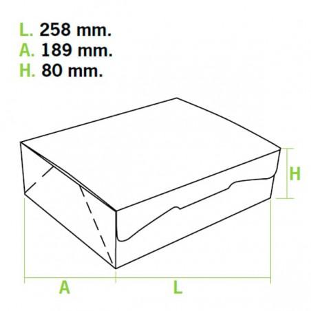 Caja Pasteleria Carton 25,8x18,9x8cm 2Kg. Blanca (125 Uds)