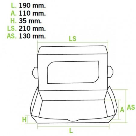 Envase de Carton Premium 21x13x3,5cm 730ml (300 Uds)