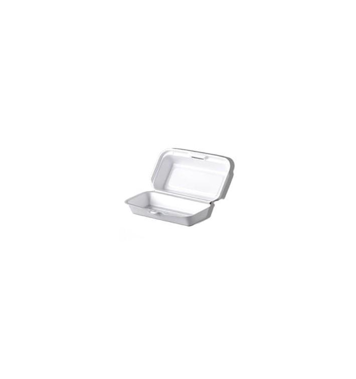Envase Foam HotDog Blanco 210x110x90mm (125 Uds)