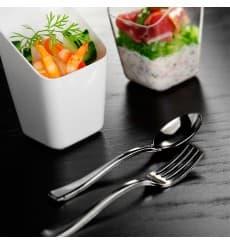 Mini Tenedor de Plastico Metalizado 100mm (500 Uds)
