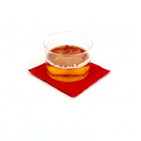 Servilleta de Papel Cocktail 20x20cm Roja (3.000 Uds)
