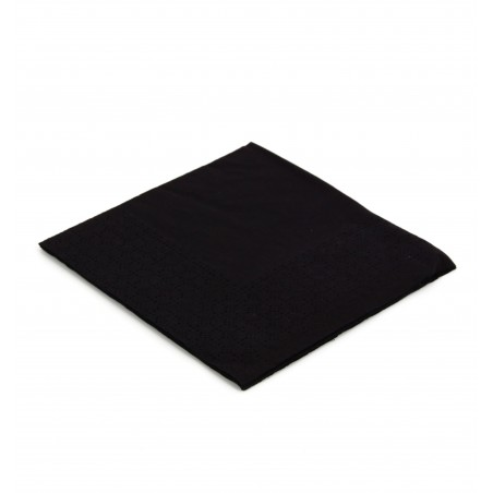 Servilleta de Papel Cocktail 20x20cm Negra (100 Uds)