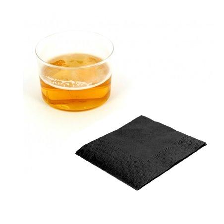 Servilleta de Papel Cocktail 20x20cm Negra (100 Uds)