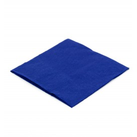 Servilleta de Papel Cocktail 20x20cm Azul (100 Uds)