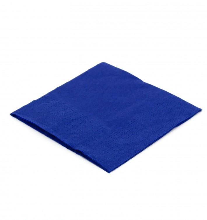Servilleta de Papel Cocktail 20x20cm Azul (100 Uds)