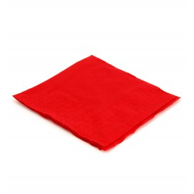 Servilleta de Papel Cocktail 20x20cm Roja (6.000 Uds)