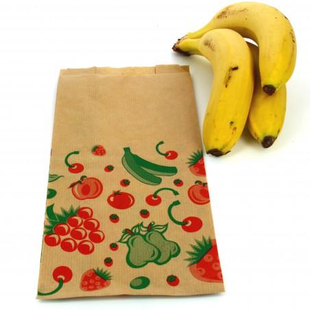 Bolsa Kraft para Fruta 14+7x28cm (100 Unidades)