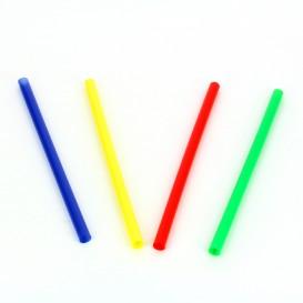 Pajita Recta de Colores para Mojito Ø6mm 13cm (15000 Uds)
