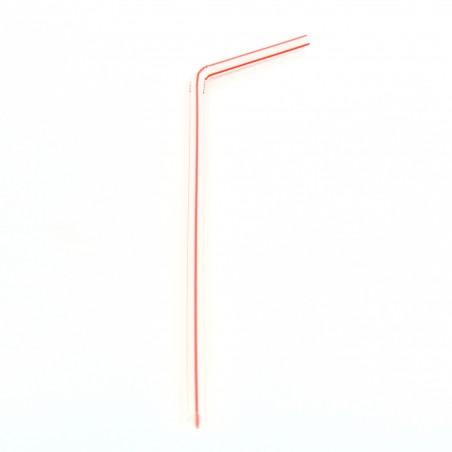 Pajita Flexible para Bebidas Ø5mm 24cm (10000 Uds)