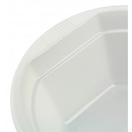 Bol de Plastico Blanco 250 ml  (100 Uds)
