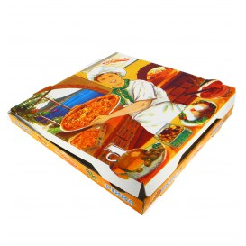 Cajas para Pizza 33x33x3,5 cm Vegetal (100 Uds)