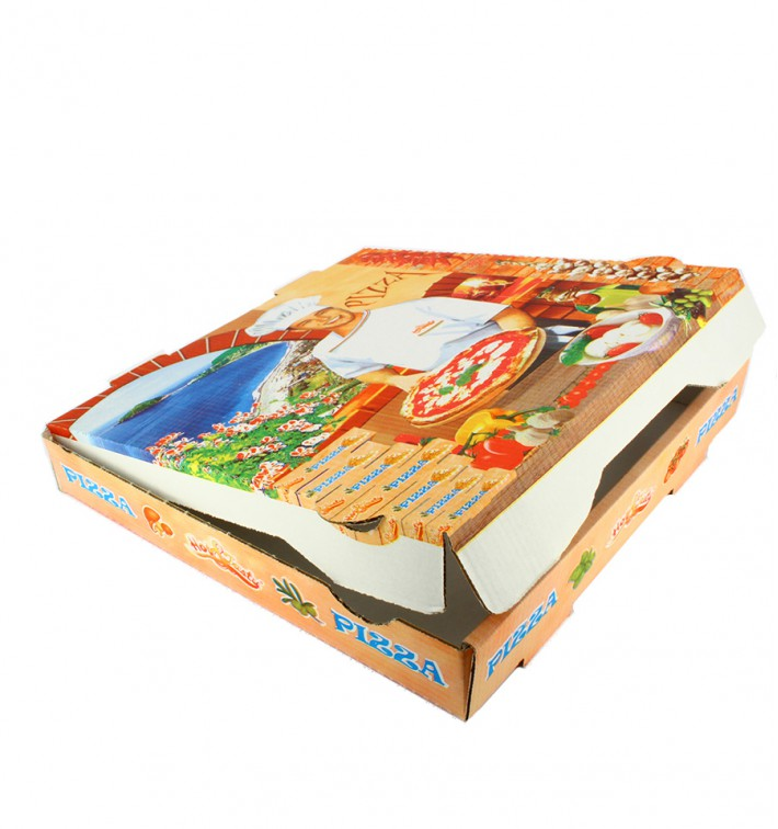 Cajas para Pizza 40x40x4 cm Vegetal (100 Uds)