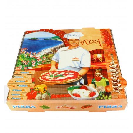 Cajas para Pizza 40x40x4 Vegetal (100Uds)