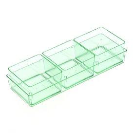 Cubo de Plastico para Salsas Verde Transp.4,2x4,2cm (576 Uds)