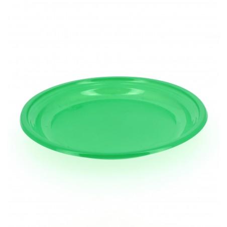 Plato de Plastico Llano Verde 205mm (960 Uds)