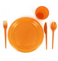 Cuchillo de Plastico PS Naranja 165 mm (15 Uds)