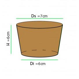 Funda para Vasos de Cartón Corrugada Ø7 x h6 cm (100 Uds)