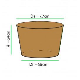 Funda para Vasos de Cartón Corrugada Ø7,8 x h6,4 cm (100 Uds)