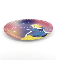 Plato Carton Diseño Princesas 23cm (8 Uds)