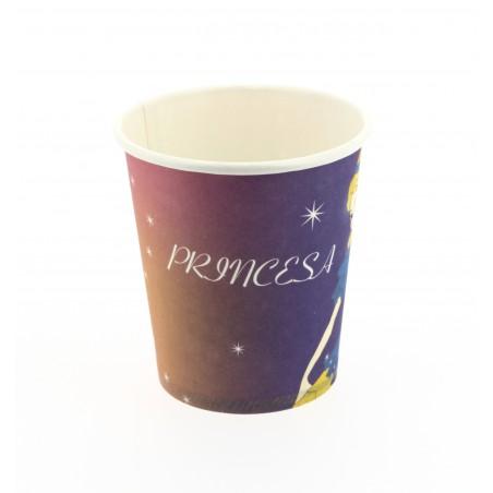 Vaso Carton Diseño Princesas 200ml (25 Uds)