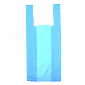 Bolsa Plastico Camiseta 35x50cm Azul (5000 Uds)