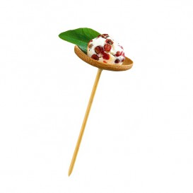 Pinchos de Bambu Decorados Platillo 100 mm (1200 Uds)