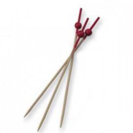 Pinchos de Bambu Decorados Bolita Roja 90 mm (10000 Uds)
