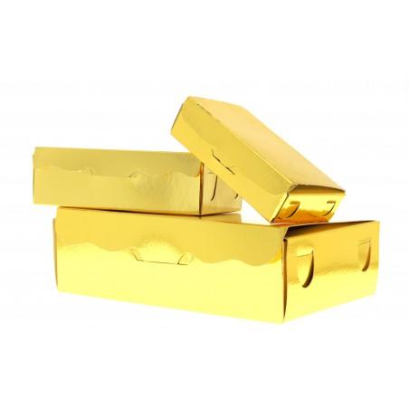 Caja para Dulces y Bombones Oro 11x6,5x2,5cm 100g (5 Uds)