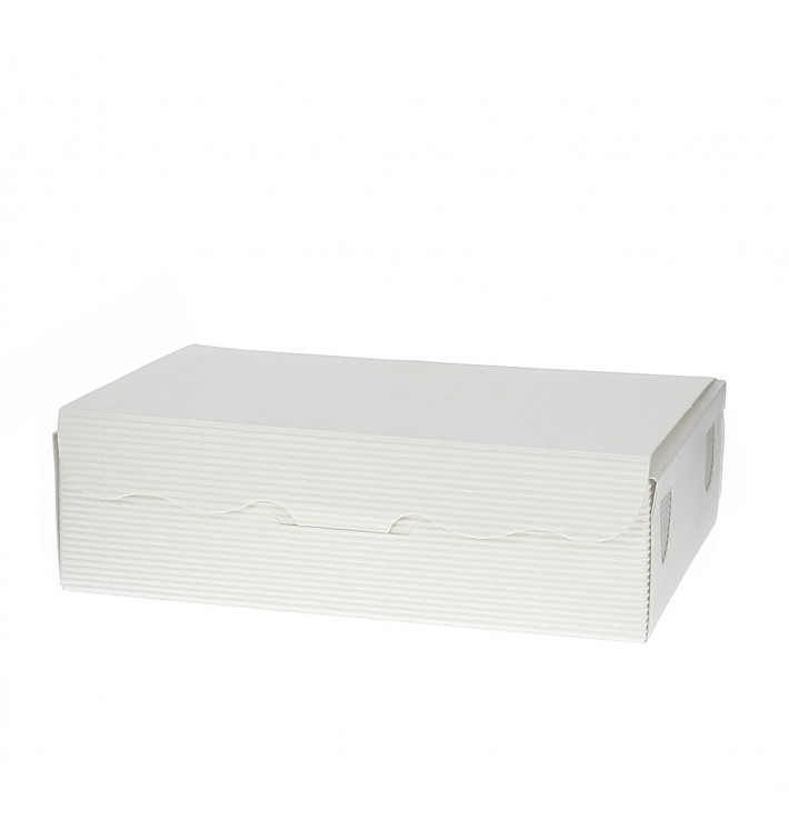 Caja para Dulces y Bombones Blanca 14x8x3,5cm 250g (800 Uds)